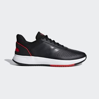 Courtsmash Shoes Core Black / Grey Six / Active Red F36716