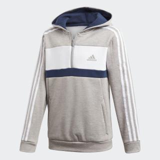 Sudadera con capucha Sport ID Fleece Mgh Solid Grey / White / Collegiate Navy DI0206