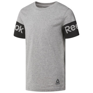 T-shirt Reebok - garçon Medium Grey Heather CF4269