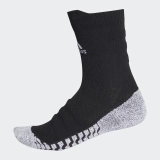Alphaskin Traxion Lightweight Cushioning Crew CLIMACOOL Socks Black/White CV7576