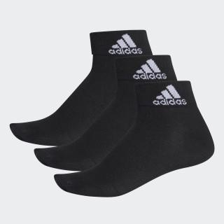Meia Ankle Mid Thin - 3 Pares BLACK/BLACK/WHITE AA2321