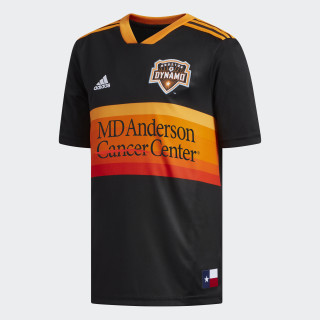 Houston Dynamo Away Replica Jersey Black / Bright Orange / White CE3302