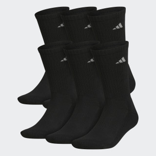 Athletic No Show Socks 6 Pairs Black Q10386