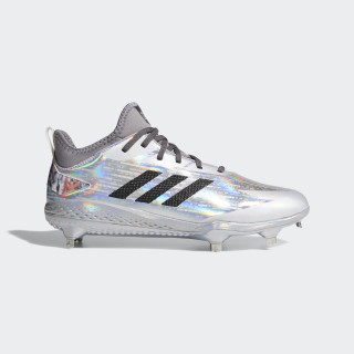 Adizero Afterburner V x Topps Cleats Silver Metallic / Carbon / Grey DA9423