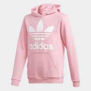 Sudadera con capucha Trefoil Light Pink / White DJ2167