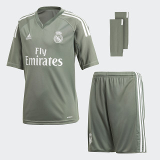 Mini Kit Principal de Guarda-Redes do Real Madrid Trace Green/White B31103