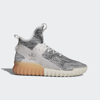 Tubular X Primeknit Shoes Crystal White / Grey / Core Black BY3146