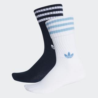 Solid Crew Socken, 2 Paar Collegiate Navy / White / White / Clear Blue DH3363