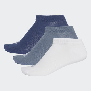 Performance No-Show Thin Socks 3 Pairs Noble Indigo / White / Raw Steel CF7370