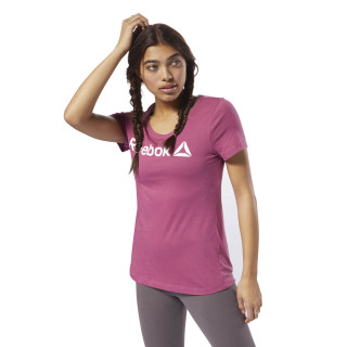 Reebok Scoop Neck Tee Twisted Berry / White DH3734