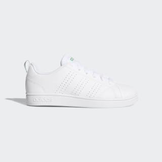 VS Advantage Clean Shoes White/White/Green AW4884