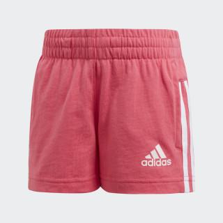 Short Little Girls Knitted Super Pink / White CE9828