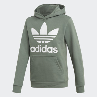 Hoodie Trefoil Trace Green / White DH2668