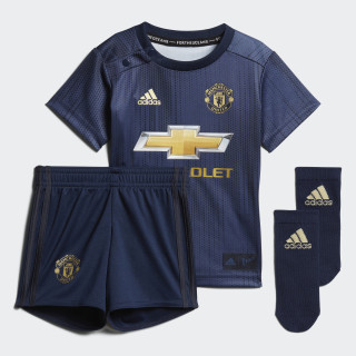 Manchester United Mini-Ausweichausrüstung Collegiate Navy / Night Navy / Matte Gold DP6019
