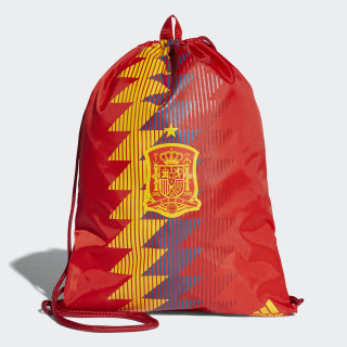 Bolso deportivo FEF GYMBAG RED/BOLD GOLD CF4963