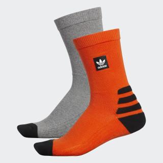 BB Crew Socks 2 Pairs Collegiate Orange / Core Heather DH2567