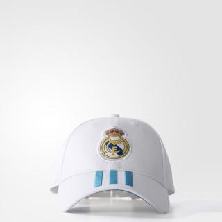 Gorra 3 franjas Real Madrid WHITE/VIVID TEAL S13 BR7157