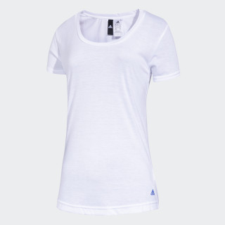 Remera Essentials Basic WHITE/BLUE CV5859