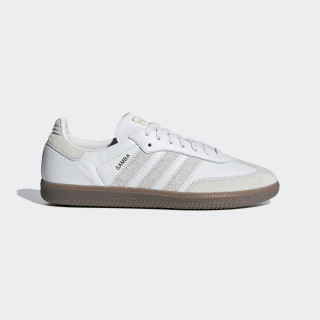 Chaussure Samba OG FT Crystal White / Raw White / Gold Met. BD7527