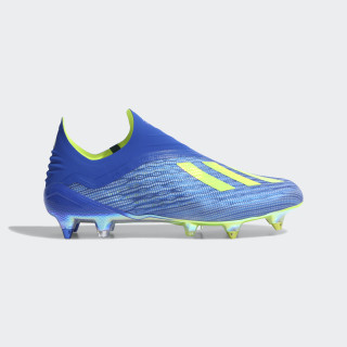 Chuteiras X 18+ SG FOOTBALL BLUE/SOLAR YELLOW/CORE BLACK CM8364