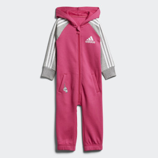 Einteiler Real Magenta / Medium Grey Heather / White DJ1554