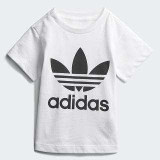 Camiseta Trefoil WHITE/BLACK CE4316