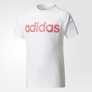 Little Kids Linear T-Shirt White / Super Pink CE9867