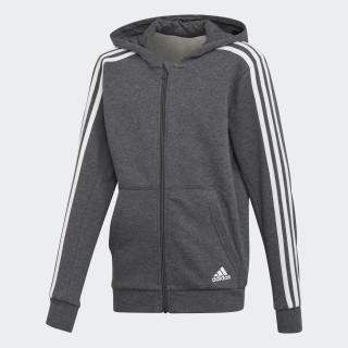 Veste à capuche Essentials 3-Stripes Dark Grey Heather / White DJ1747