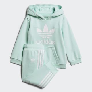 Trefoil hoodiesæt Clear Mint / White D96068