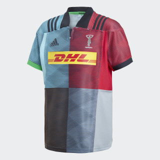 Harlequins Rugby Thuisshirt Punjab / Frost Blue / Red Beauty / Light Grey CG1934