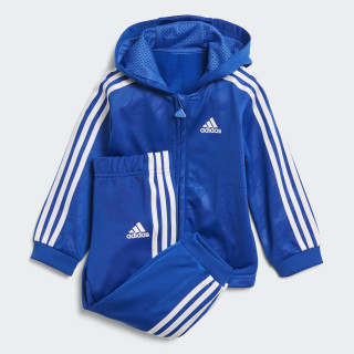 Shiny Hooded Jogginganzug Blue / White DJ1579