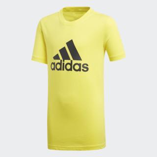 Camiseta Essentials Logo Shock Yellow / Carbon DJ1777