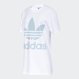 Remera Big Trefoil WHITE/ASH GREY S18 CW9982