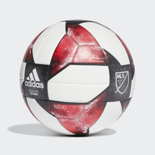 MLS NFHS Top Training Ball White / Black / Active Red DN8697
