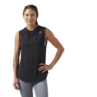 Workout Ready Sleeveless Hoodie Black CE1262