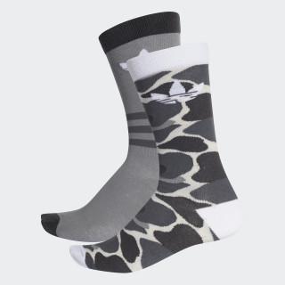 Trefoil Crew Socken, 2 Paar Multicolor / White DH1021