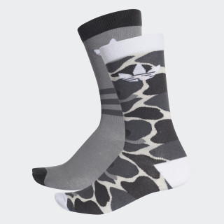 Trefoil Crew Socks 2 Pairs Multicolor / White DH1021