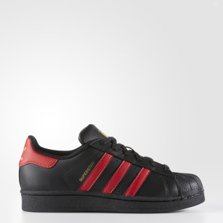 Superstar Shoes Core Black / Scarlet / Gold Metallic S80695