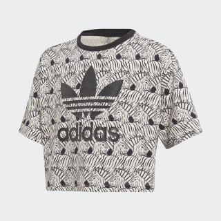Camiseta Zebra Crop Clear Brown / Black D98913