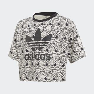 Zebra Crop T-shirt Clear Brown / Black D98913