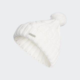 Solid Pompom Beanie White CZ0222