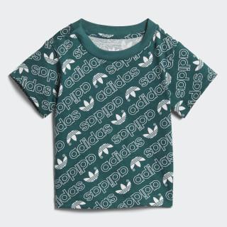 T-shirt Trefoil Monogram Noble Green / White DN8164
