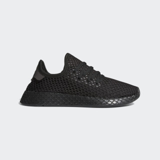 Deerupt Shoes Core Black / Silver Metallic / Red F97408