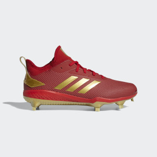 Adizero Afterburner V Cleats Power Red / Gold Metallic / Core Black CG5220