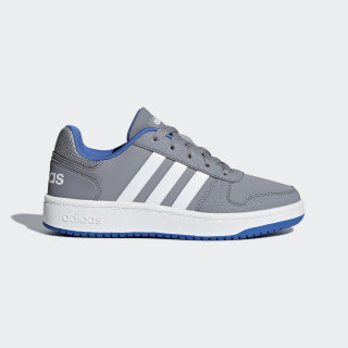 Hoops 2.0 Shoes Grey / Ftwr White / Blue B76066