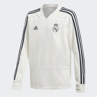 Sudadera entrenamiento Real Madrid Core White / Tech Onix CW8665