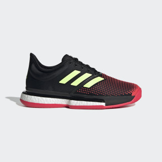 SoleCourt Boost Shoes Core Black / Hi-Res Yellow / Shock Red G26297