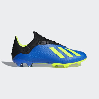 X 18.2 Firm Ground Voetbalschoenen Football Blue / Solar Yellow / Core Black DA9334