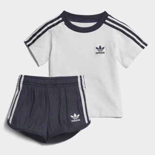 Conjunto Camiseta y Shorts Pleated WHITE/LEGEND INK F17 LEGEND INK F17/WHITE CE1990