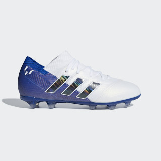 Nemeziz Messi 18.1 Firm Ground Voetbalschoenen Ftwr White / Core Black / Football Blue DB2363